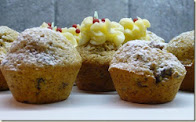 christmas pudding mini muffins