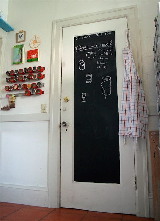 Two men and a little farm chalkboard doors for Chalk paint door