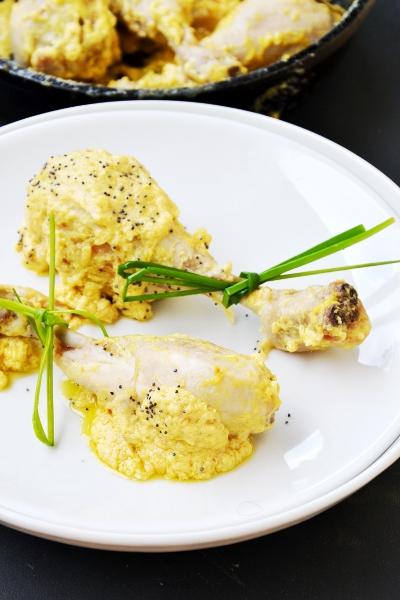 coscie di pollo al limone, cipolotto e philadelphia