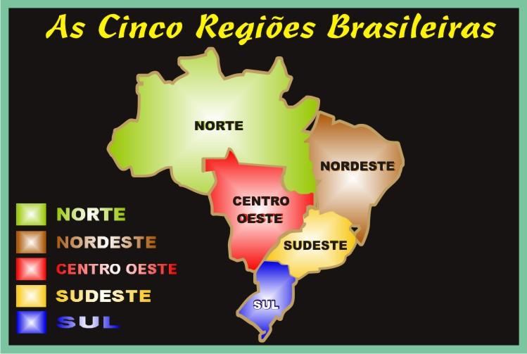 As Cinco Regiões Brasileiras