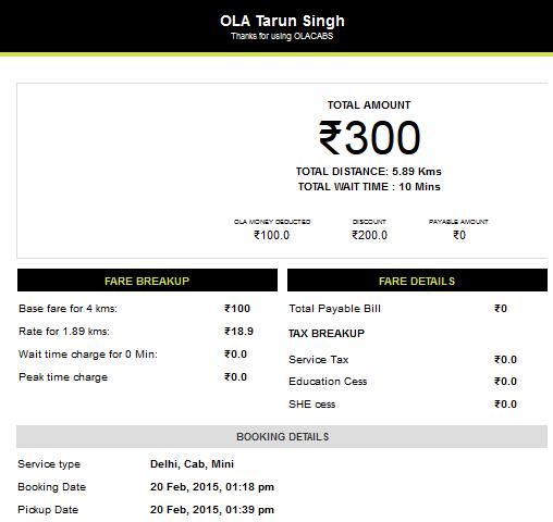 Ola Ride in Delhi