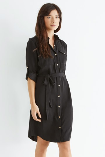 black shirt dress oasis