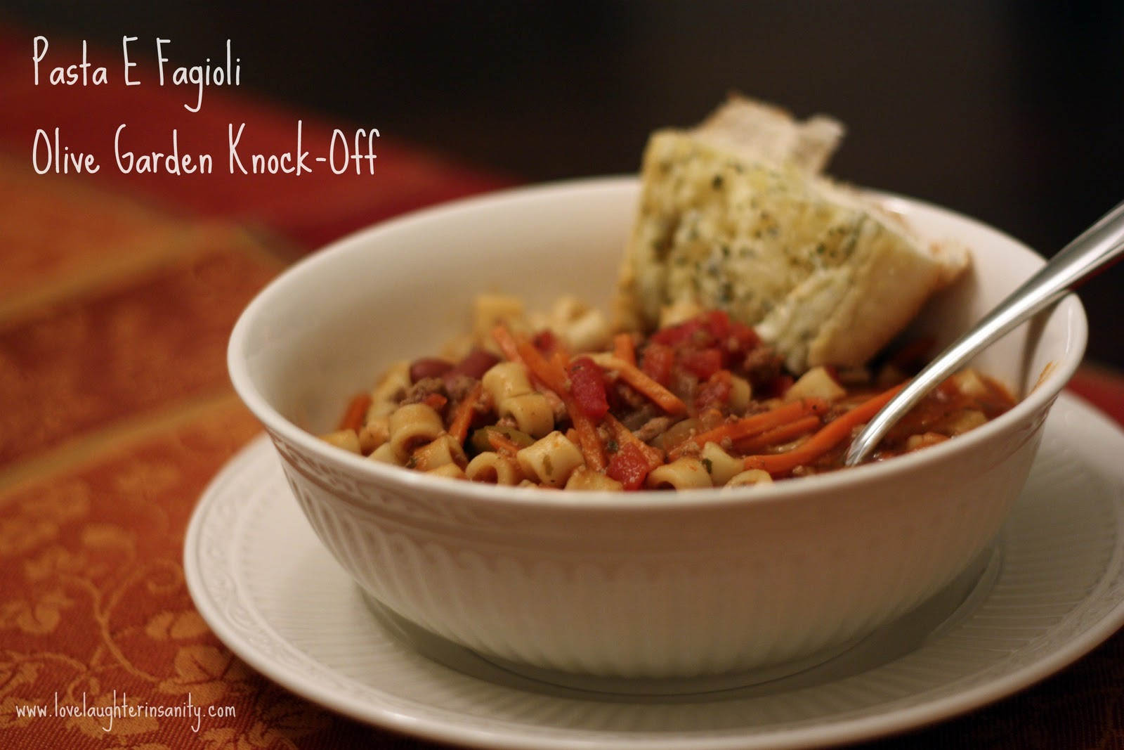 Pasta e Fagioli Soup - Weekend Cooking - Love, Laughter, and a Touch ...