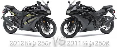2012 Ninja 250R VS 2011 Ninja 250R