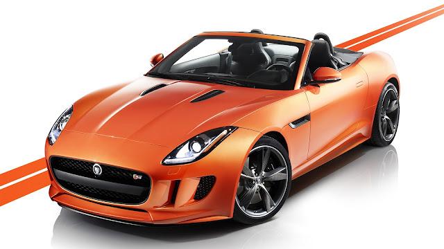 Jaguar F Type Orange Car