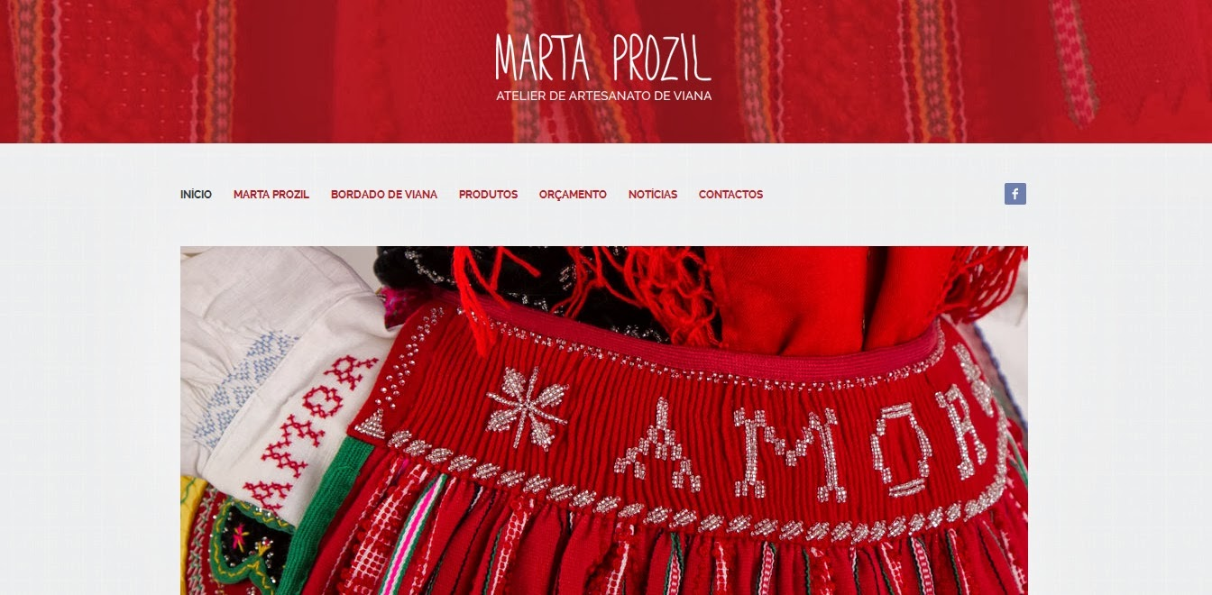 Abertura do Website MARTA PROZIL