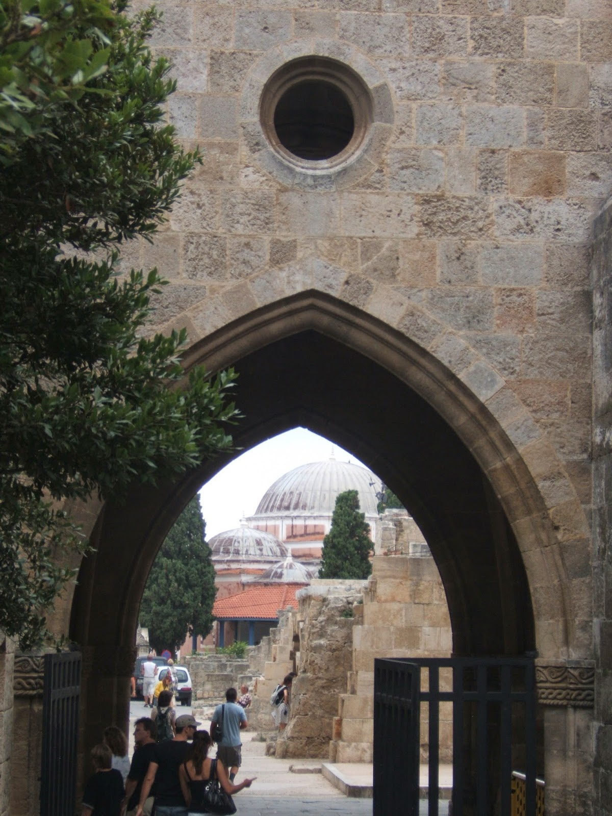 "One the of the eleven entrance arches into ""Old Town"", Rhodes, Greece © 2008 Tina M. Welter"