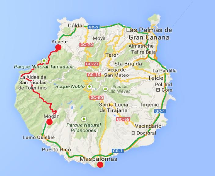 karta över gran canaria