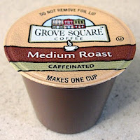 Single-serve coffee cartridge with foil top