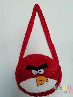 Tas Angry Birds warna Merah