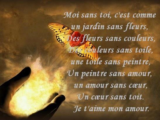 Message d 39 amour et d 39 amiti message d 39 amour avec carte et for Maison sans toi