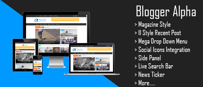 Blogger Alpha Magazine Blogger Template