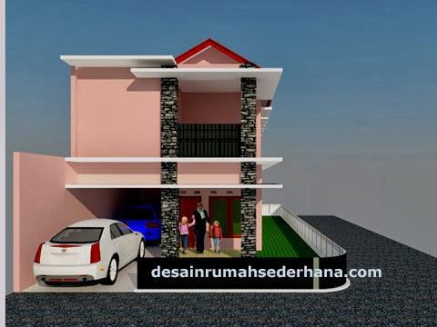 desain rumah ideal 2 lantai untuk hook tanah kavling