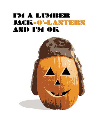 jack o lantern with hat pun poster
