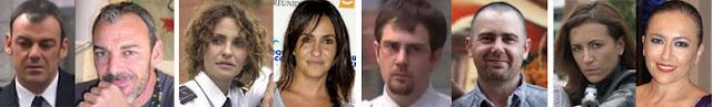 Paco Luque, Melanie Olivares, Roberto Luque y Sonia Castelo, en la serie Policías, de Antena 3