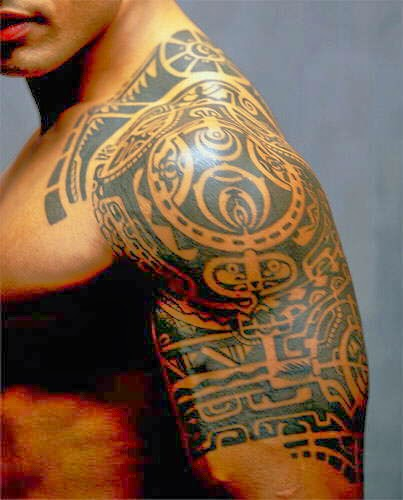 tattoos art the rock dwayne johnson