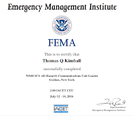 NIMS ICS All-Hazards Communications Unit Leader Course (E/L-0969)