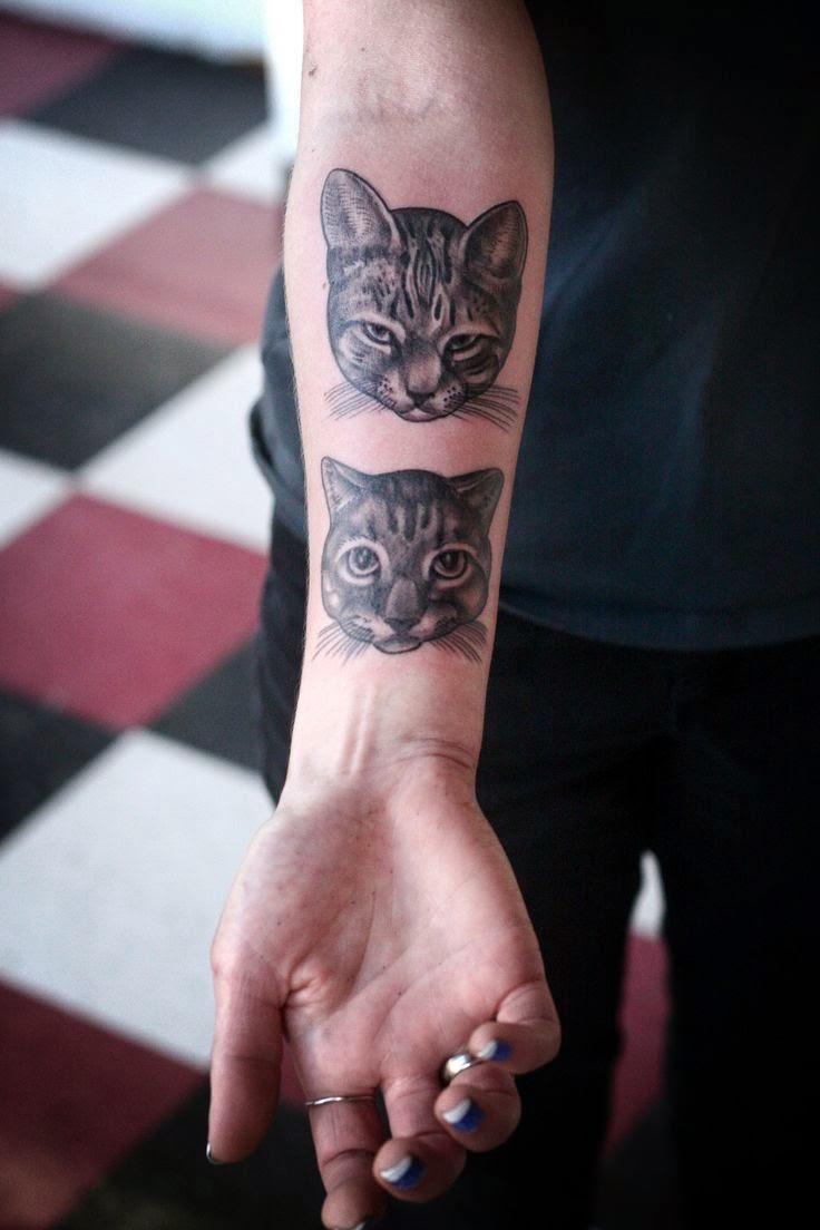 20 Most Beautiful happy Cat Tattoos Design & Ideas