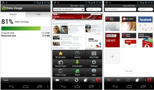 Download Opera Mini 7 for Android Gratis