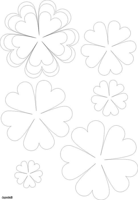 Цветы из кожи кЦветы из бумаги маме