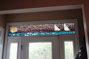 This is a transom in a private residence in Oxford.
