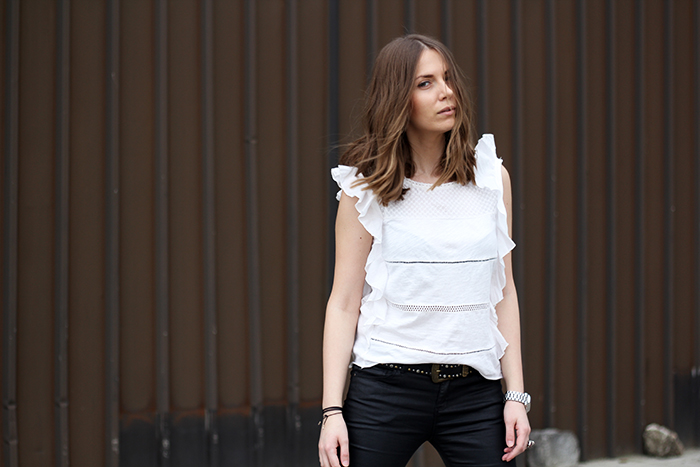 Fashion And Style White Ruffle Top