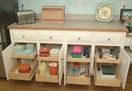Kitchen Cabinet Slide Out Shelves