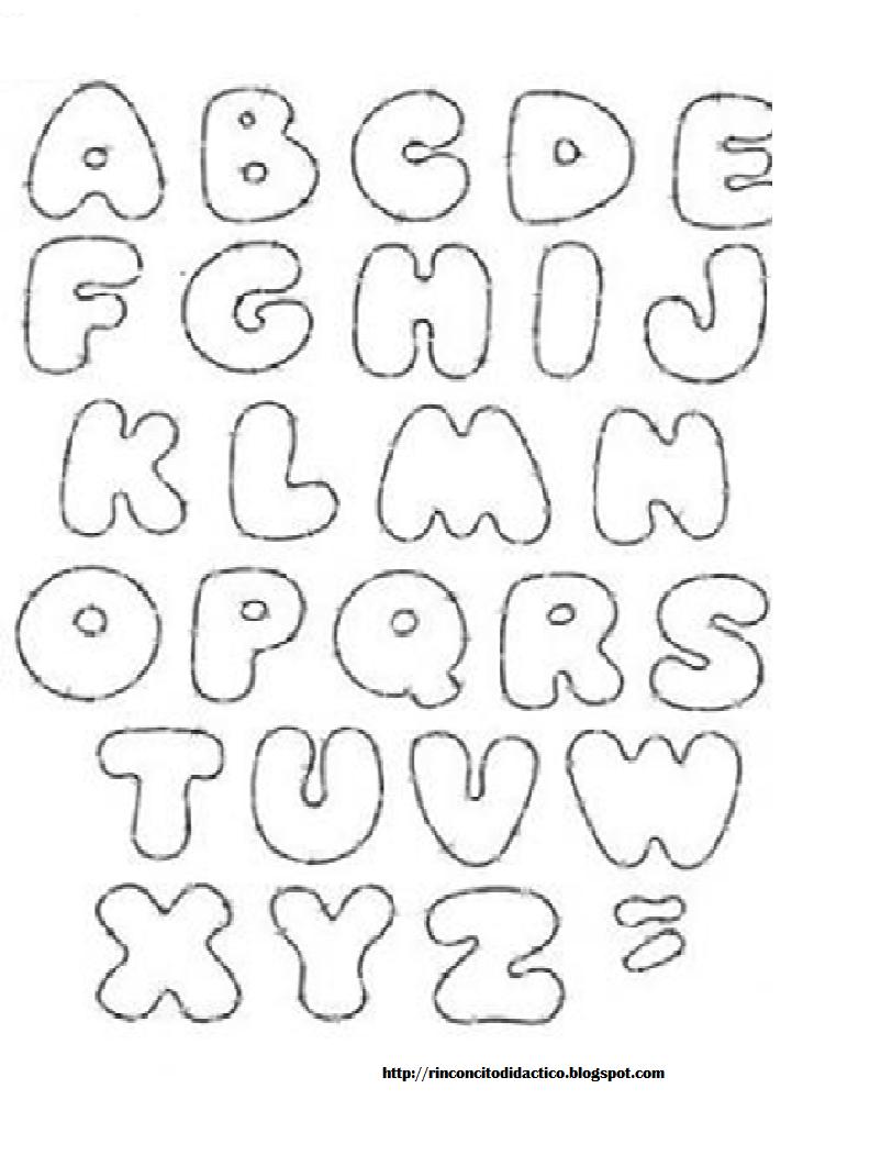 Rinconcito didactico letras para decorar trabajos - Letras de decoracion ...