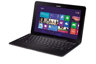 Samsung XE700T1C docked on keyboard