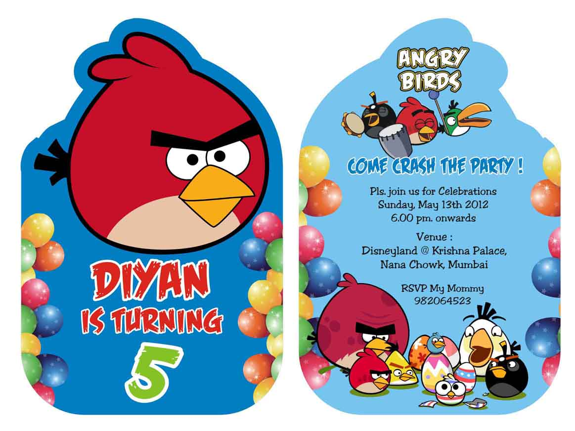 Angry Birds Party Invitations baby shower invitations templates – Angry Birds Party Invitations