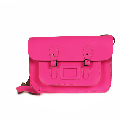 Neon pink satchel from Bohemia