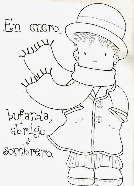 Recursos Para Escuela Infantil: DIBUJOS PARA COLOREAR DE ENERO Y ...