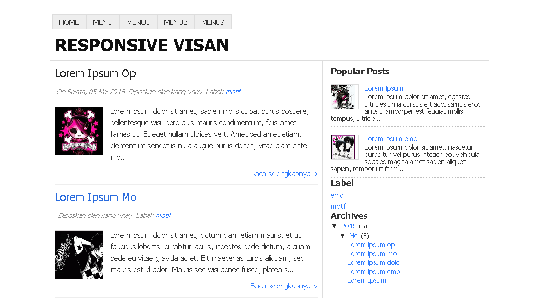 Template Blogg Responsive Visan