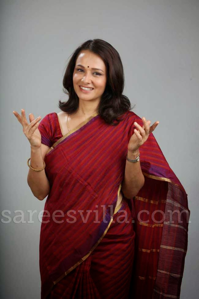 Amala Akkineni In Chanderi Silk Saree