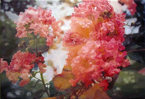 Pakayla Biehn pinturas hiper realistas fotografia dupla exposição
