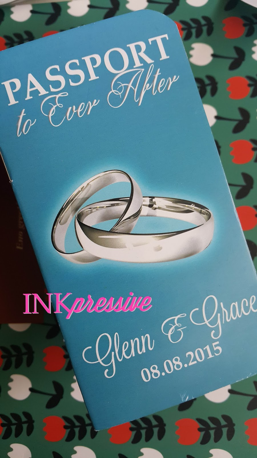 The Clients Wanted A Turquoise Coloured Set Invitation Cover Was Digitally Printed Since They Requested For Print Of Silver Wedding