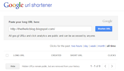 Using google url shortener