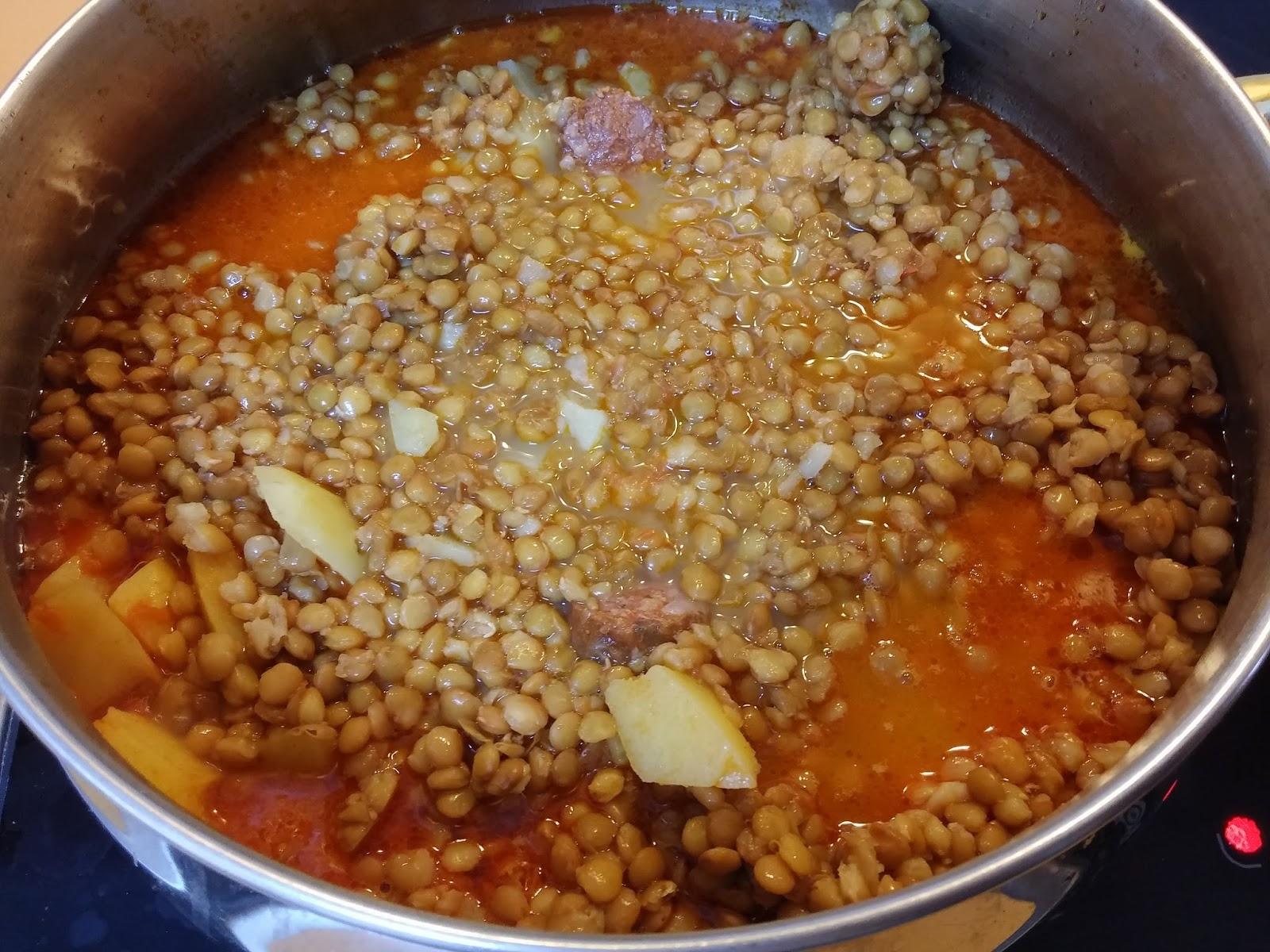 La cocina f cil de silvia guiso de lentejas f cil y r pido - Cocinar facil y rapido ...