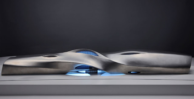 Photo of new museum model with blue LED lighning