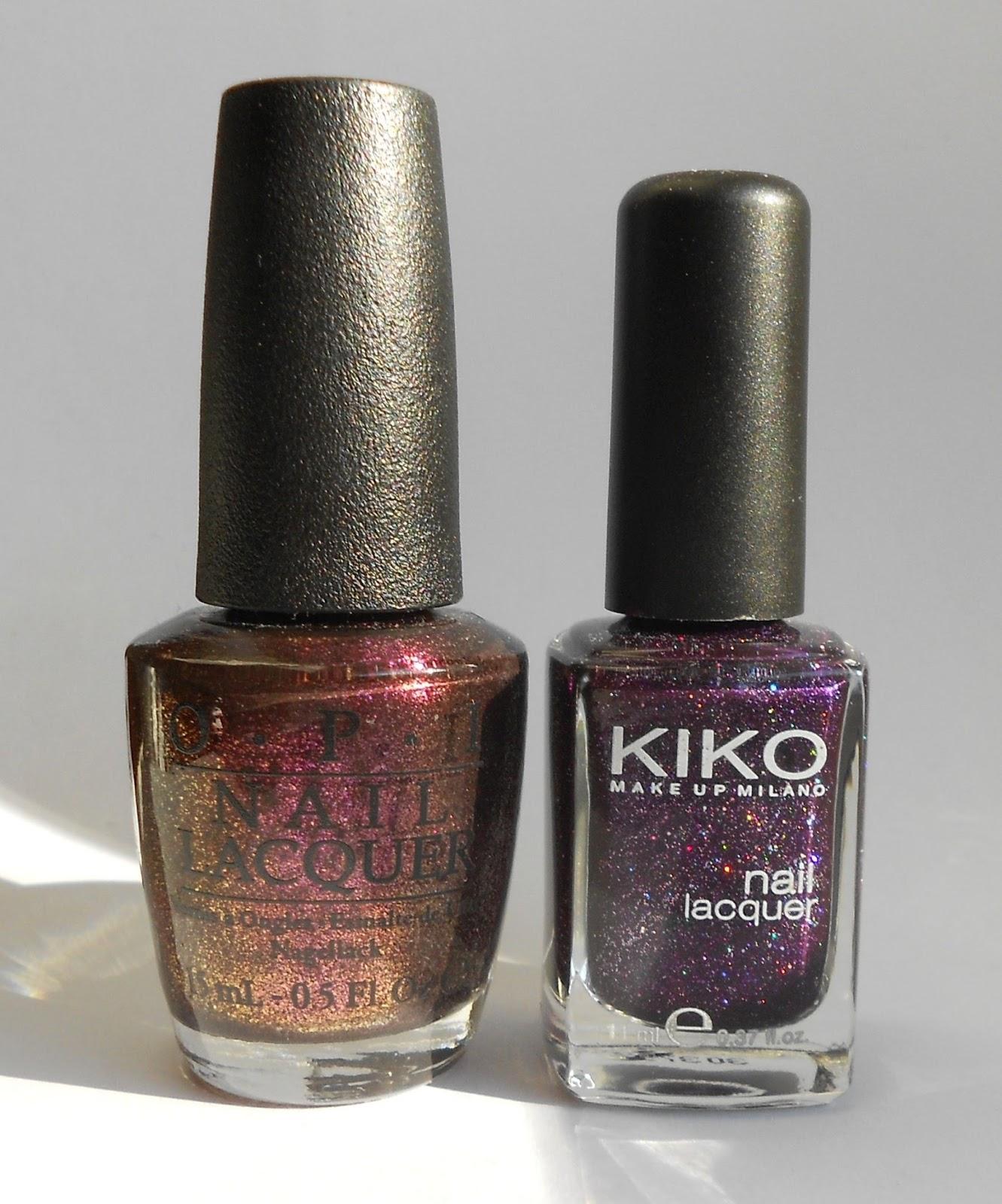OPI Drive me wild Kiko Violet Microglitter