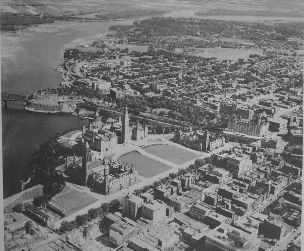 Aerial view of Ottawa Canada