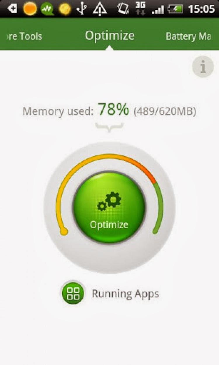 صورة من تطبيق Android Booster FREE