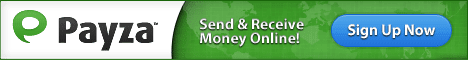 send and receive money with payza