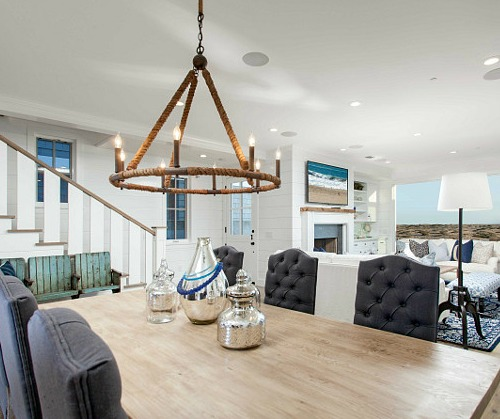 Rope Chandelier by Curry and Company