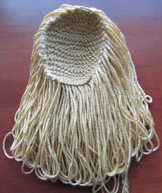 knit bunny hair