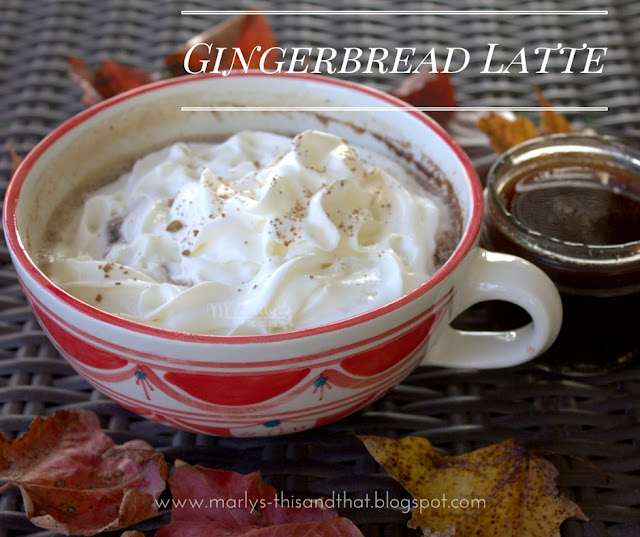 Gingerbread Latte - Make your own Gingerbread Latte at home with homemade gingerbread syrup