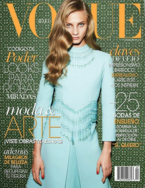 Magazine Cover : Anna Selezneva Magazine Photoshoot Pics on Vogue Magazine México February 2014