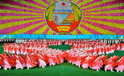 Human Billboard Paintings at North Korea Mass Games Seen On www.coolpicturegallery.us