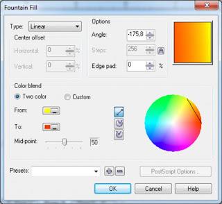Cara Membuat Gradasi Warna Dengan Coreldraw