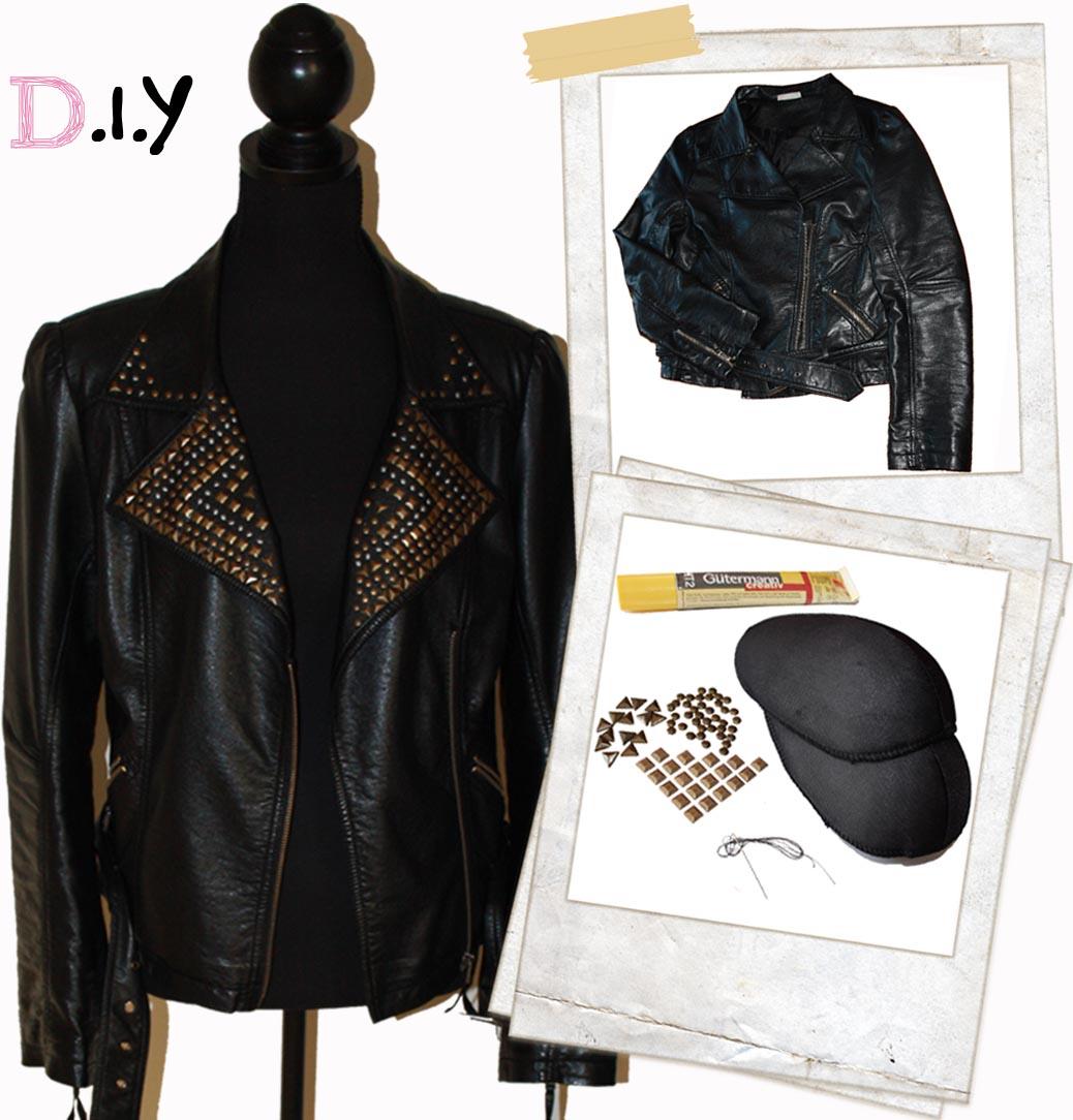 Leather jacket diy - D I Y Studded Leather Jacket